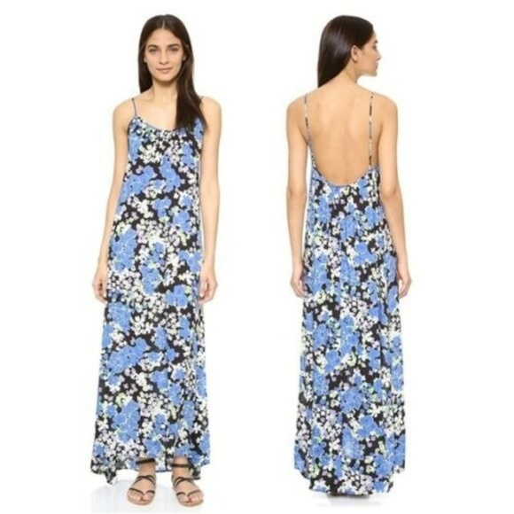 Wildfox Other - NWT Wildfox Swim Blue Bouquet Margrette Maxi Dress
